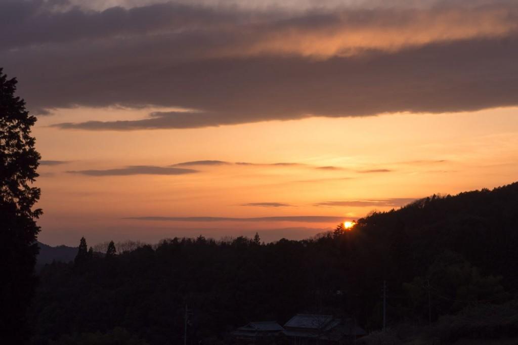 佛隆寺駐車場からの夕日